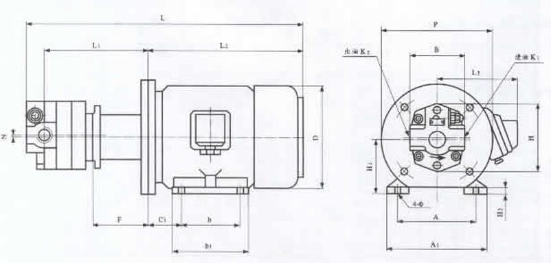 供应bb-b4yjz,bb-b6yjz,bb-b10yjz摆线油泵电机组(立卧式),液压泵图片